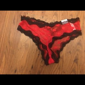 Cacique size 12 red and black cheeky panties new